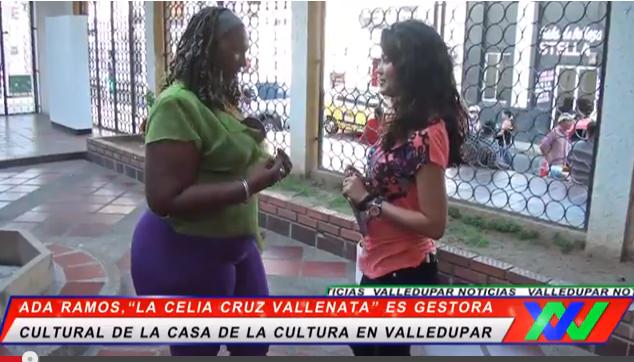 """Ada Ramos, """"La Celia Cruz Vallenata"""" es Gestora Cultural enValledupar."""