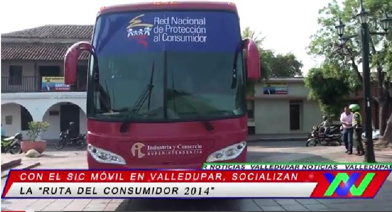 "Con el sic móvil en Valledupar fue socializada la ""ruta del consumidor2014"""