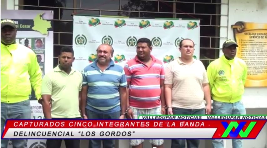 "Capturados cinco integrantes de la banda ""Los Gordos"""