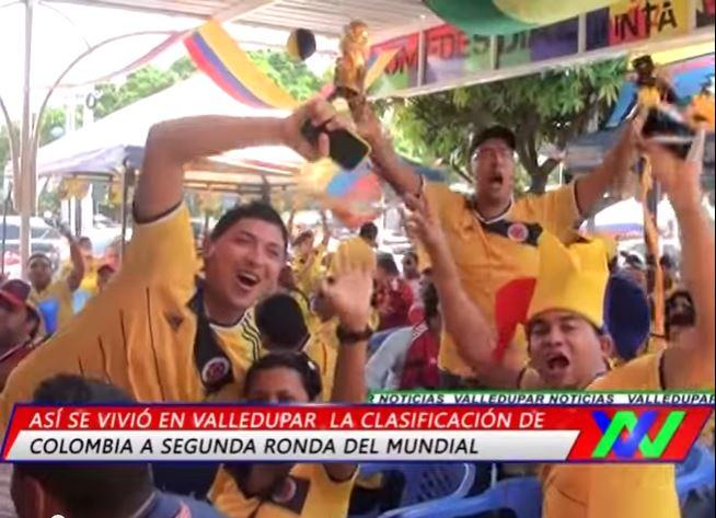 Triunfo de la Selección Colombia inunda de felicidad a losvallenatos