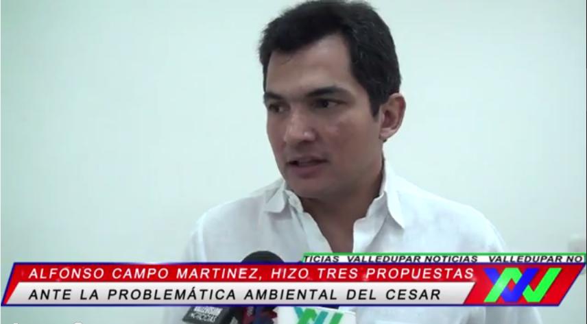 El personero de Valledupar, hizo tres propuestas ante la problemática ambiental delCesar