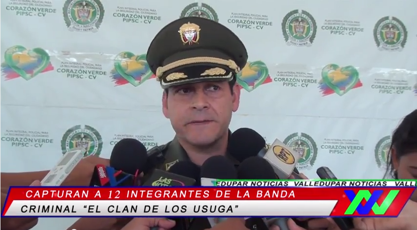 "Capturan a 12 integrantes de la banda criminal ""el clan de los Usuga"""