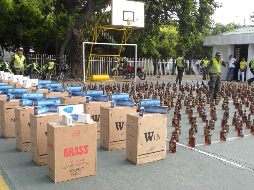 Incautada carga de licor y cigarrillos de contrabando, previo al partido Colombia –Brasil