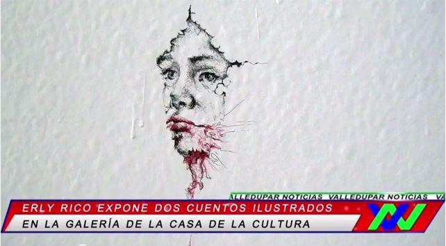 Erly Rico, expone dos cuentos ilustrados enValledupar