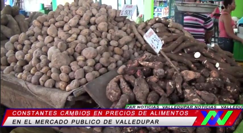 Precios de alimentos en el mercado deValledupar