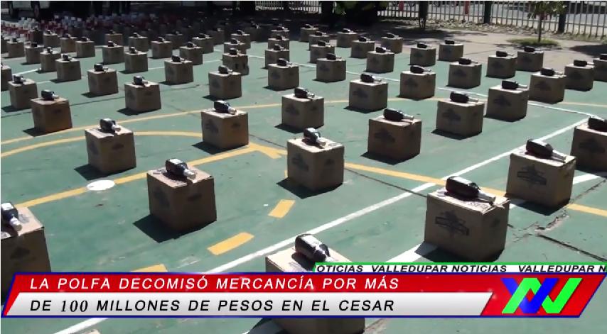 Decomisan mercancía por más de 100 millones de pesos en elCesar