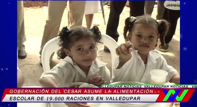 Gobernación del Cesar asume la alimentación escolar de 19 000 raciones enValledupar