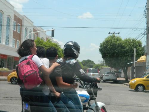 Imprudencia en motocicleta