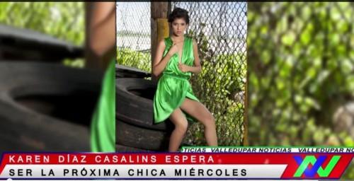 "Modelo vallenata aspira obtener título ""Chica Miércoles"""