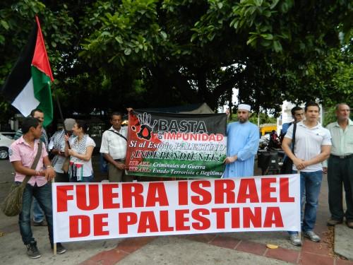 En Valledupar, palestinos protestaron por bombardeos deIsrael