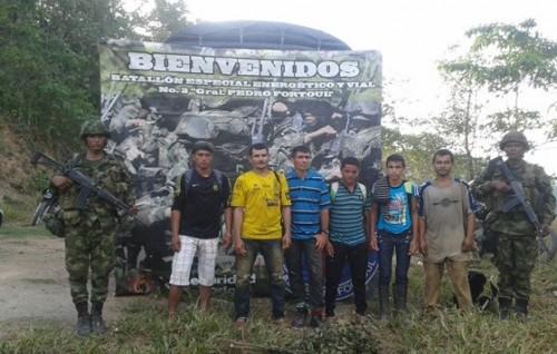 "6 presuntos ""raspachines"" fueron capturados en flagrancia en Pailitas,Cesar"