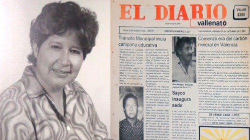 El periodismo vallenato está de luto, falleció Lolita AcostaMaestre