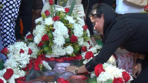 En Valledupar se llevo a cabo una ofrenda floral en homenaje a DiomedesDíaz