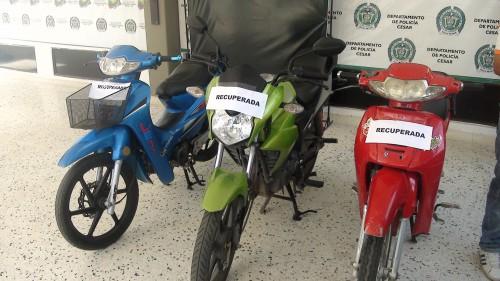 Recuperan en el barrio la nevada de Valledupar motocicletas que habían sidohurtadas
