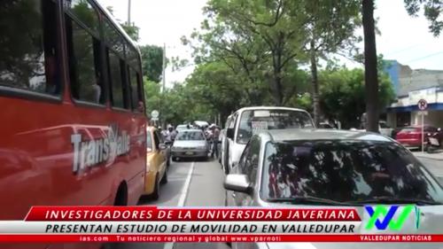 Universidad Javeriana presenta estudio de movilidad enValledupar
