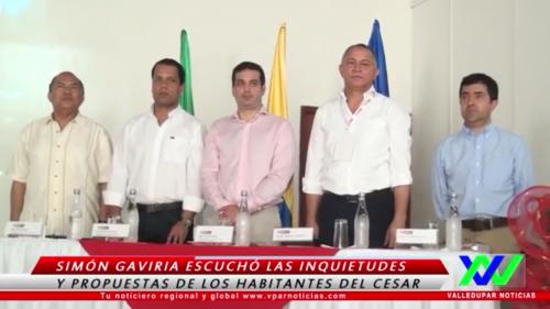 Simón Gaviria escuchó las inquietudes y propuestas de los habitantes delCesar