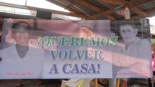 No hay información del paradero de Luis Alberto Mora y Víctor JulioLópez