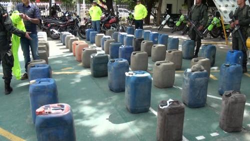 400 galones de combustible y 5 motos de procedencia venezolana fueronincautados