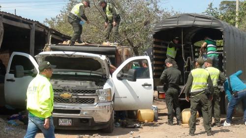 Más de 1500 galones de combustibles incautados y 7 personas capturadas en La Paz,Cesar