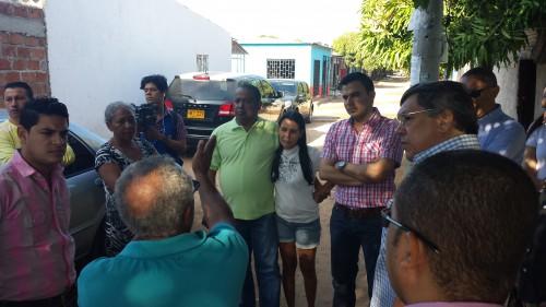Concejales de Valledupar recorrieron barrio NuevoMilenio