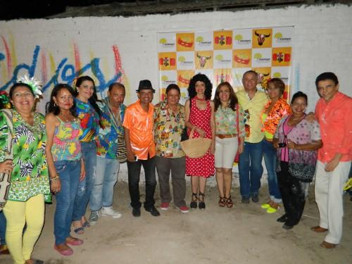 Fiesta carnavalera paraperiodistas