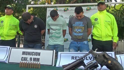 """Capturados tres integrantes de la banda delincuencial """"LosBellacos"""""""