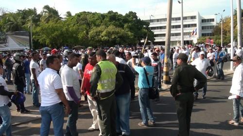 Se realizó plantón organizado por mototaxistas enValledupar