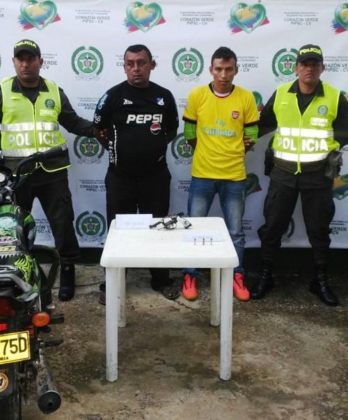 Dos capturados en Aguachica por hurto y tenencia ilegal dearmas