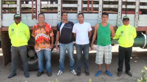 Capturados en flagrancia cuatro hombres que se dedicaban al hurto desemovientes