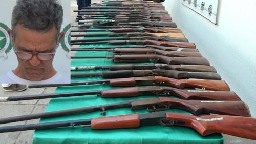 50 armas de fuego fueron incautadas por la policía, están valoradas en 35 millones depesos