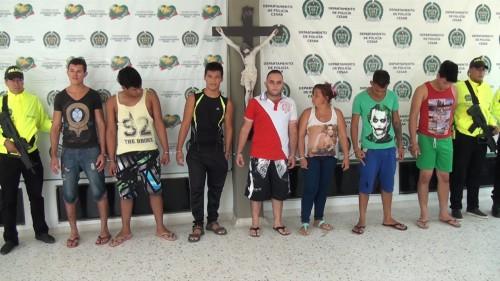 Capturados 8 integrantes de banda delincuencial dedicada al hurto demotocicletas
