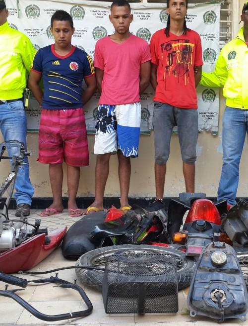 Jóvenes capturados por hurto de moto, fueron dejados enlibertad
