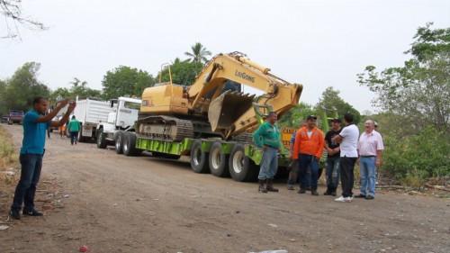 Inició pavimentación de la vía a LosCalabazos
