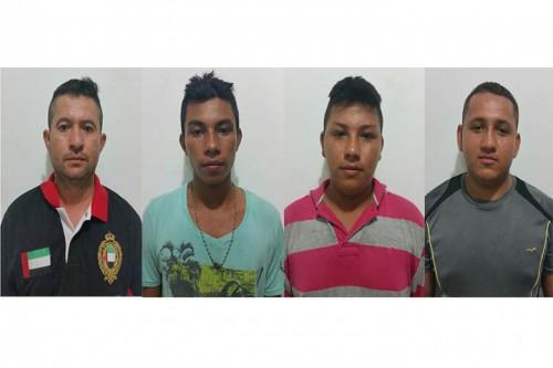 """Policía Nacional logra la captura de cuatro integrante de la banda los""""Efectivos"""""""