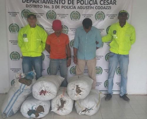 Fueron incautados 101 kilos de marihuana en elCesar
