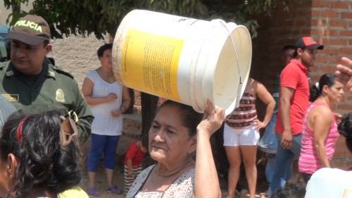 Protestas en Valledupar por la falta de aguapotable