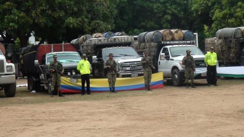 Decomisan 44 mil 100 galones de combustible ilegal valorados en 2 500 millones depesos