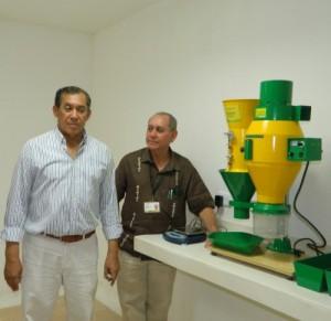 El director ejecutivo de Fedearroz en Cesar Hernán Araméndiz  y el gerente ICA Cesar Rafael Murgas