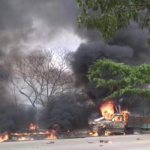 En  accidente de tránsito murieron calcinadas dos personas en elCesar