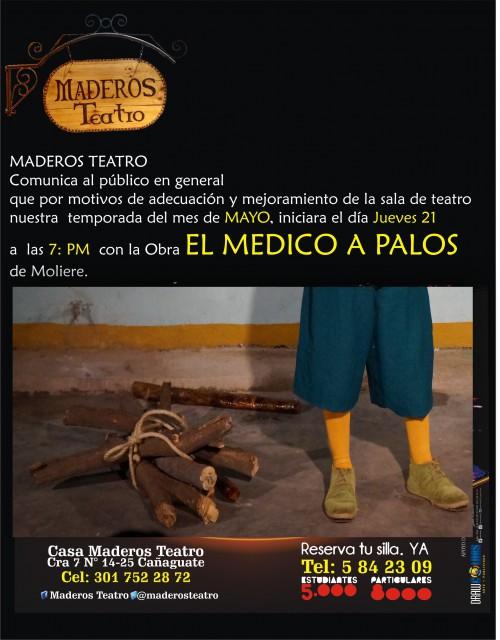 """""""El médico a palos"""" de Moliere, en Maderos Teatro deValledupar"""