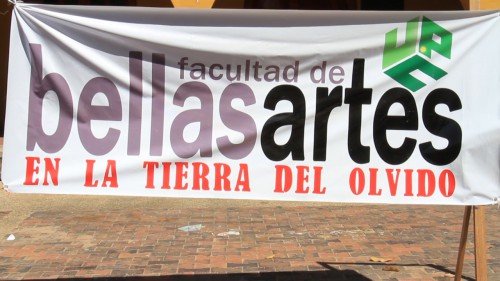 """""""Bellas Artes en la tierra del olvido"""" segundo plantón de los estudiantes de lafacultad"""
