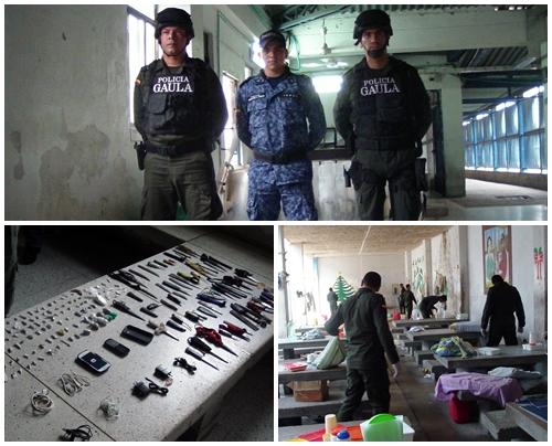 En operativo anti extorsión el Gaula incautó armas, estupefacientes y elementos electrónicos en  la Cárcel de Alta  Seguridad deValledupar