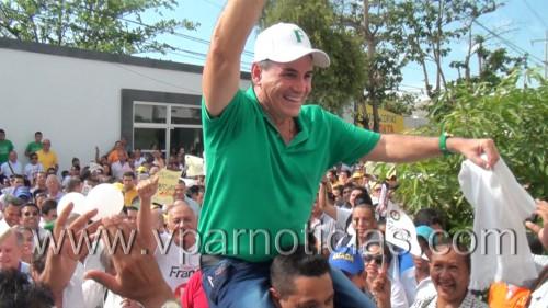 Franco Ovalle se inscribió como candidato a la gobernación delCesar