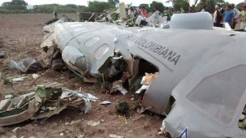Fatal accidente de avión de la Fuerza Aérea Colombiana , en elCesar