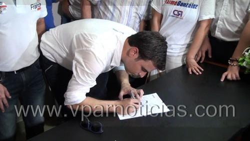 Basado en seis ejes temáticos, Jaime González inscribió su candidatura a la alcaldía deValledupar