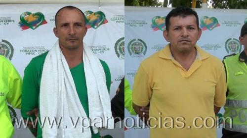 En el Cesar, capturados dos delincuentes con amplioprontuario