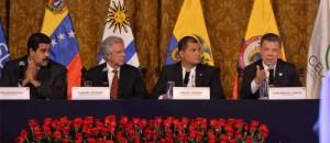1 encuentro de Santos y Maduro en Ecuador
