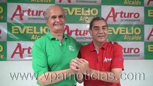 Arturo Calderón del partido Liberal recibe adhesión de Evelio Daza del PartidoVerde
