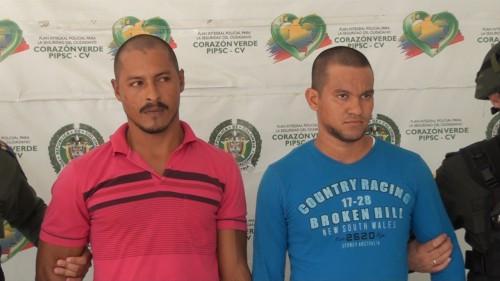 Capturados dos presuntos extorsionistas en PelayaCesar