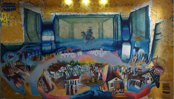 "Presentación de mural ""Canto de amor a Valledupar"" del artista FranciscoRuíz"